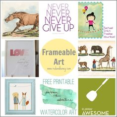 100 Fantastic Free Printables (Everything from Calendars to Art Prints to Paper Dolls) | Red and Honey