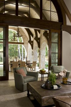 From the Portfolio of Harrison Design Outdoor Rooms, Outdoor Living, Harrison Design, Interior Architecture, Interior Design, Brick Colors, Great Rooms, Luxury Homes, Beautiful Homes