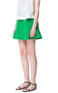 MINI SKIRT WITH FRILL AT THE HEM