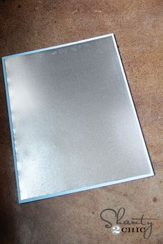Sheet metal for magnet board (Galvanized metal from lowes in the plumbing section)