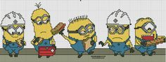 Despicable Me Minions pattern by syra1974 on deviantART