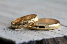 Hey, I found this really awesome Etsy listing at https://www.etsy.com/listing/92075317/his-and-hers-modern-hammered-classic