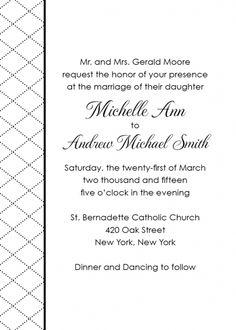 The Avery - Quilted Wedding Invitation   shopannabelles shopannabelles.com