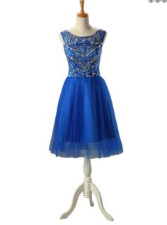 Royal Blue Homecoming Dress Short Prom Dress Pst0881 on Luulla