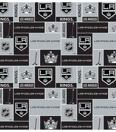 NHL Cotton Fabric- Los Angeles Kings Black at Joann.com