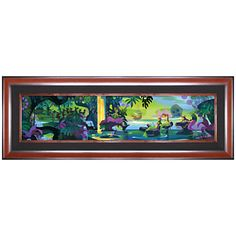 Disney Peter Pan at Mermaid Lagoon ''Magic Lagoon'' on Canvas by Mark Swanson Peter Pan And Tinkerbell, Peter Pan Disney, Art Pop, Disney Store, Disney Fine Art, Color Script, Mermaid Lagoon, Disney Artists, Arte Disney