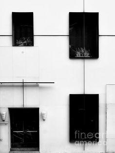 Mondrianic Fascade - Monochrome by James Aiken #jamesaiken #monochrome
