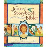Awesome storybook Bible that connects everything to Jesus- a great devotional Bible to read with your children!!