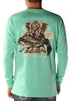 LS Gun Dog Shirt in Bimini Green by Southern Marsh Southern Marsh, Dog Shirt, Nice Clothes, Christmas 2016, Birthday Wishes, Country Style, Long Sleeve Shirts, Sportswear, Shirt Designs