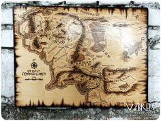 Карта Средиземья. - Ярмарка Мастеров - ручная работа, handmade