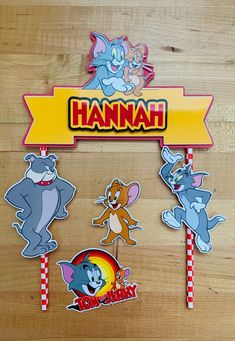 Personalized Tom and Jerry Theme Cake Topper | Etsy Tommy Jerry, Tom And Jerry Cake, Party Items, Themed Cakes, Beautiful Cakes, Cupcake Toppers, Dragon Ball Z, Party Favors, My Design