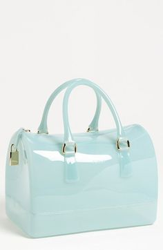 These bags are really starting to grow on me. Furla 'Candy' Transparent Rubber Satchel available at #Nordstrom