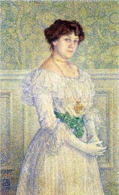 Portrait of Laure Fle - Theo van Rysselberghe (1898)