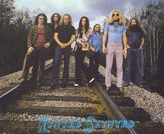 Lynyrd Skynyrd on the tracks in Green Cove Springs, Fl near Hell House in 1975 - Lynyrd Skynyrd Dixie