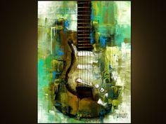 Al arte abstracto moderno de la orden  pintura Original  por