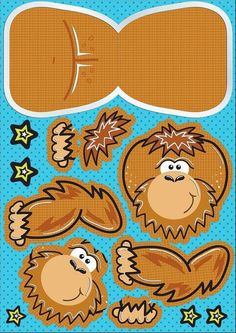 Gorilla Printable Paper Toy