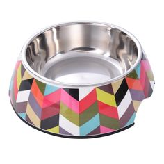 Removable Melamine Stainless Steel Pet Bowl with Non-Skid Rubber Bottom Foodand Water Pet Dog Cat Bowl Multicolor Thick Striation Pattern by Awtang ** Want additional info? Click on the image. (This is an affiliate link and I receive a commission for the sales)