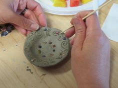 A do It yourself tutorial on how to make air dry clay offering bowls