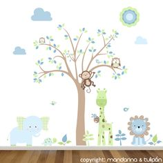 Cuartos de chicos on pinterest bebe animales and pintura for Habitaciones con vinilos infantiles