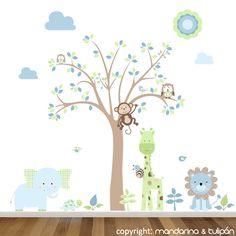 Habitaciones de bebes on Pinterest  Nursery Wall Decals ...