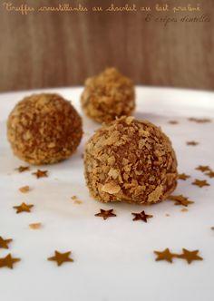 truffes croustillantes au chocolat au lait praliné et crêpes dentelles