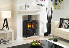 Have you always wanted a wood burning stove but didn't want to deal with the mess it makes? Then the Dimplex Oakhurst Opti-Myst electric stove could be the perfect product for you! Diy Fireplace, Fireplace Design, Fireplace Heater, Black Fireplace, Fireplace Surrounds, Foyers, Dimplex Fires, Electric Stove Fireplace, Electric Fireplaces
