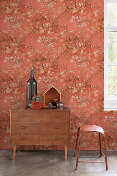 The collection of Van Gogh was inspired by the famous works of Dutch painter Vincent van Gogh Modern art in Paris encouraged Vincent to adopt a . Van Gogh Wallpaper, Red Wallpaper, Dining Room Wallpaper, Kitchen Wallpaper, Chinoiserie Wallpaper, Villa, Decoration, Wall Murals, Interior Decorating