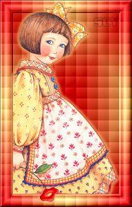 Mary Engelbreit - unusual background.