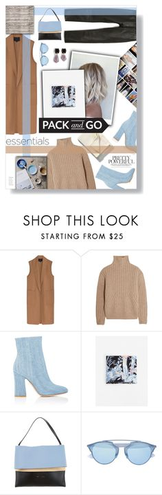 """pack and go"" by rennss ❤ liked on Polyvore featuring Alexander Wang, Totême, Gianvito Rossi, Libeco, MANGO, bleu, CÉLINE, Christian Dior and Marni"