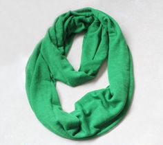 jersey infinity scarf candy color green blue by blackbeanblackbean, $7.99