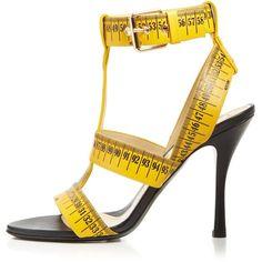 Moschino T-Strap Sandals - Ruler High Heel ($665) ❤ liked on Polyvore featuring shoes, sandals, t strap sandals, t bar shoes, strappy heeled sandals, t strap shoes and t strap high heel sandals