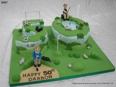 Cake Decorating Course Rugby : Golf Themed Cakes on Pinterest Golf Cakes, Golf Birthday ...