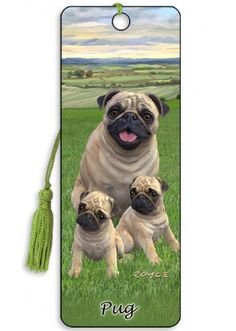 Artgame 3D Pug Bookmark