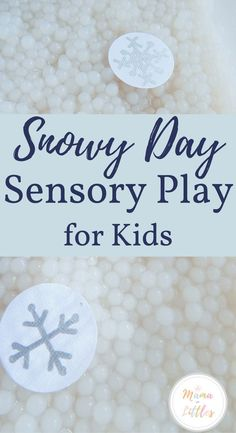 """Taste-Safe sensory play for kids and toddlers to play with """"snow balls"""" inside. Free Activities For Kids, Sensory Activities Toddlers, Rainy Day Activities, Sensory Bins, Sensory Play, Sensory Table, Autism Sensory, Sensory Boards, Baby Sensory"""