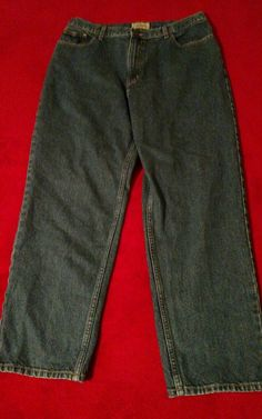 L.L. Bean Original Fit Relaxed Blue Jeans Size 18 Reg #LLBean #Relaxed