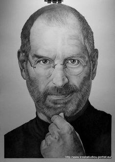 STEVE JOBS portrét tužkou velikost A2 Game Of Thrones, Steve Jobs, Drawings, Artwork, Fictional Characters, Artworks, Realistic Drawings, Face, Animals