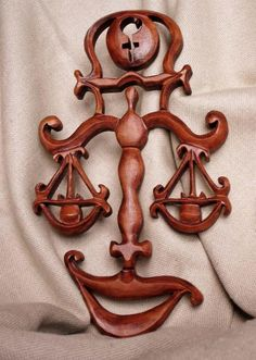 Libra ZodiacWoodcarving Carving wallUnique Birthday by Artwood6