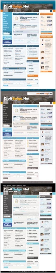 Droit Belge Website #graphicdesign #webdesign #design #website #layout