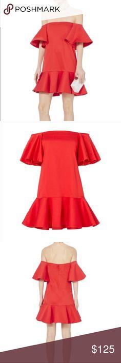 21647ef812f NEW Alexis Aliana Off the Shoulder Dress NEW Alexis Aliana Off the Shoulder  Red Dress Brand