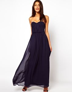 Enlarge ASOS Bandeau Ruched Maxi Dress BRIDESMAID ATTIRE
