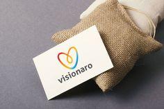 Visionaro V Text Logo by legendlogo on @creativemarket