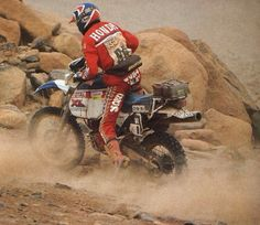 Gilles Lalay Honda XL 1985 Paris Dakar