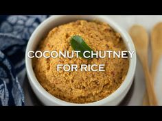 Thengai Thogayal | Thuvaiyal | Coconut Thogyal - Coconut Chutney for Rice - YouTube Recipe Videos, Food Videos, Indian Cookbook, Coconut Chutney, Vegetarian Cookbook, Chutney Recipes, Red Chili, Tamarind, Rice Recipes