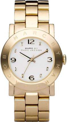 Marc by Marc Jacobs stainless steel wristwatch Authentic Gold Marc by Marc Jacobs stainless steel watch. Minor wearing on bottom of wrist band. Marc by Marc Jacobs Accessories Watches Marc Jacobs Uhr, Marc Jacobs Watch, Daniel Wellington, Stainless Steel Watch, Stainless Steel Bracelet, Crystal Bracelets, Link Bracelets, Silver Necklaces, Swatch