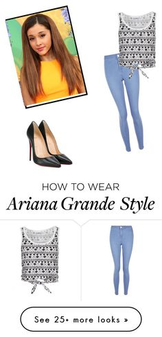 """I love Ariana Grande"" by nejraa0320 on Polyvore featuring New Look and Christian Louboutin"