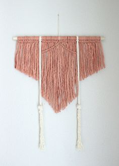 """Macrame Wall Hanging """"Spirited Away no.7"""" by HIMO ART, One of a kind Handcrafted Macrame/Rope art"""