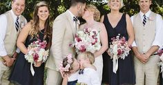 4-Year-Old Flower Girl's Surprise Kiss Steals Spotlight At Mom's Wedding | Bored Panda