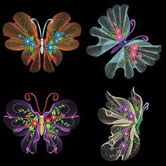 FLUTTERBY LUV#2 FULL PACK HAS 10 DESIGNS IN 4.00, 5.00 AND 6.00 SIZES (TOTAL OF 30 DESIGNS)  This is a digital file and is to be used in an