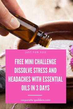 Are you ready to take control of your health and banish stress and headaches forever? Take the FREE Mini Challenge to Learn How To Dissolve Stress and Headaches in 3 days. Burnout Recovery, Job Burnout, Essential Oils For Headaches, Essential Oils For Sleep, Work Stress, Stress And Anxiety, Headache Remedies, Herbal Remedies, Oils For Energy