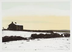 Peter Brook (1927‑2009). DECEMBER Sheep Coming In / From Twelve Months of the Year, 1976-7, Lithograph on paper.